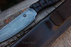 Nože - Keltský damaškový nôž s púzdrom na opasok - 5501558_