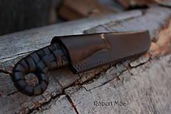 Nože - Keltský damaškový nôž s púzdrom na opasok - 5501559_