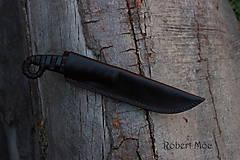 Nože - Keltský damaškový nôž s púzdrom na opasok - 5501560_