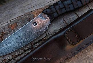 Nože - Keltský damaškový nôž s púzdrom na opasok - 5501552_