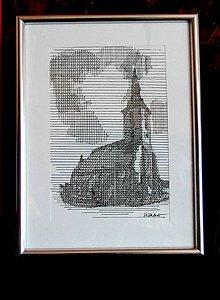 Grafika - Línie - dóm sv. Martina (print v ráme) - 5503508_