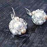 Náušnice - Náušničky WHITE & CREAM... - 5503053_
