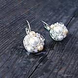 Náušnice - Náušničky WHITE & CREAM... - 5503054_
