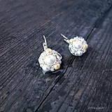 Náušnice - Náušničky WHITE & CREAM... - 5503056_
