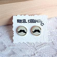 Náušnice - moustache - 5503087_