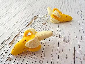 Náušnice - banániky - 5504064_