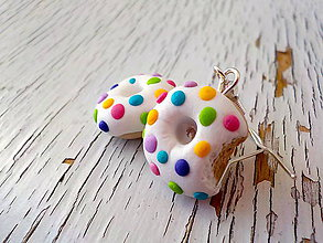 Náušnice - dúhové donutky - 5504152_