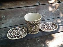 Nádoby - Sada pohár + 2x mydlovnička oválna Sedmikráska - 5506319_
