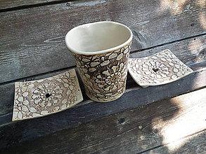 Nádoby - Sada pohár + 2x mydlovnička Sedmikráska - 5506269_