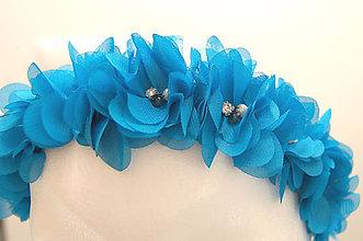 Ozdoby do vlasov - Blue věneček ... gumička - 5505494_