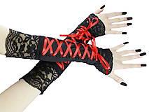 Rukavice - Dámské rukavičky s čipkou a šnurovaním 02 - 5508417_