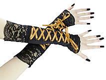 Dámské rukavičky s čipkou a šnurovaním 08