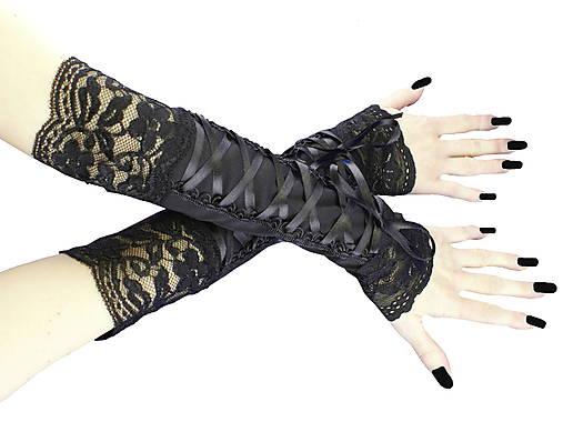Dámské rukavičky s čipkou a šnurovaním 01