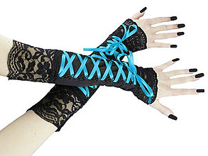 Rukavice - Dámské rukavičky s čipkou a šnurovaním 05 - 5508470_