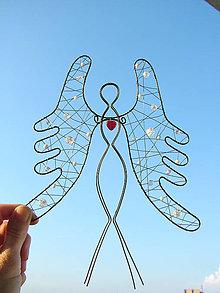 Dekorácie - anjel strážny 24cm - 5507731_