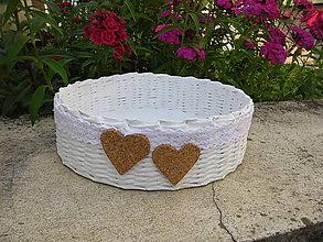 Košíky - Košík na svadobné pierka - 5507516_