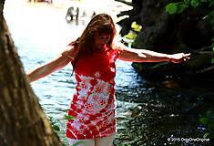 Tielka - Dámske tričko bez rukávov, šité, batikované a maľované LETNIČKY - 5505823_