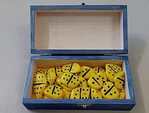 Hračky - Žltá hra DOMINO z ručne maľovaných kamienkov - 5508459_