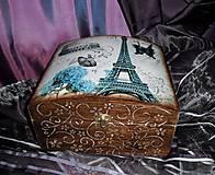 Krabičky - Paríž s modrou hortenziou - 5508307_