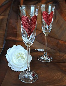 Nádoby - Svadobné poháre - 5510882_
