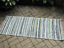 Úžitkový textil - koberec 70 x 150 cm tmavo zelený - 5508967_