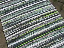 koberec 70 x 150 cm tmavo zelený