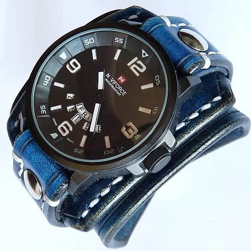 41fd12b10 Modré kožené hodinky / leon - SAShE.sk - Handmade Náramky