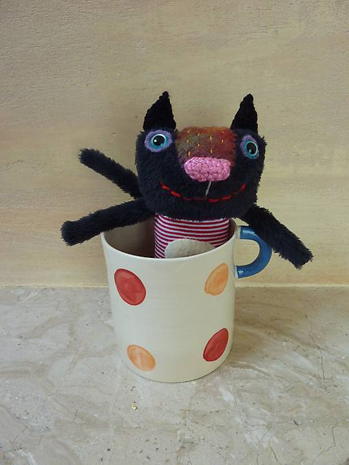 Čierna mačička s