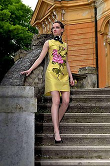 Hodvábne maľované šaty s tylom-predané   Angeli - SAShE.sk ... 5773f7e63c1