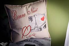 "Úžitkový textil - Vankúšik ""Dobrú noc Paríž"" - 5515059_"