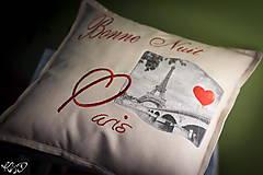 "Úžitkový textil - Vankúšik ""Dobrú noc Paríž"" - 5515060_"
