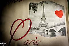 "Úžitkový textil - Vankúšik ""Dobrú noc Paríž"" - 5515061_"