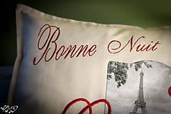 "Úžitkový textil - Vankúšik ""Dobrú noc Paríž"" - 5515063_"