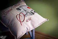 "Úžitkový textil - Vankúšik ""Dobrú noc Paríž"" - 5515064_"