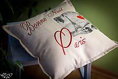 "Úžitkový textil - Vankúšik ""Dobrú noc Paríž"" - 5515065_"
