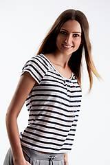 Tričká - Top modro biely - 5515635_