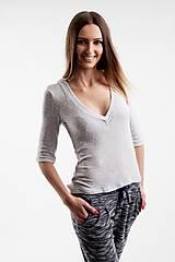 Nohavice - Dámske nohavice tmavomodré - 5516039_