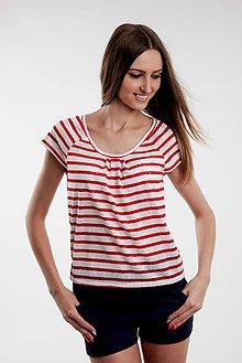 Tričká - Top červeno biely - 5515651_