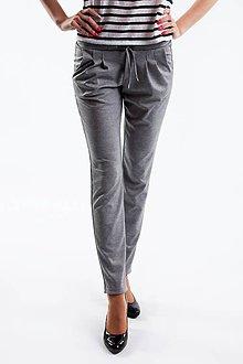 Nohavice - Dámske nohavice sivé - 5516073_
