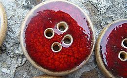 Materiál ručne robený - Gombíky červené* - 5514836_