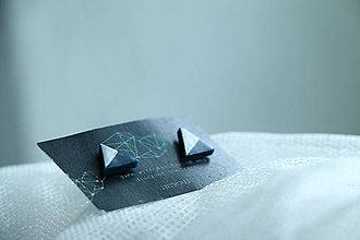 Náušnice - Triangle Blue - 5515396_
