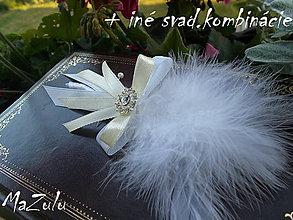 Pierka - svadobné pierko aj pre ženícha - 5515983_