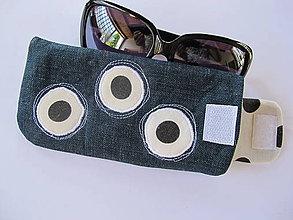 Taštičky - Púzdro na slnečné okuliare,samé bodky - 5515920_