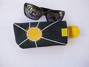 Taštičky - Púzdro na slnečné okuliare-slniečko - 5515973_