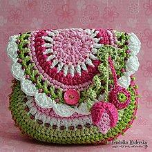 Návody a literatúra - Květinová kabelka pre dievčatka - návod na háčkovanie - 5515281_