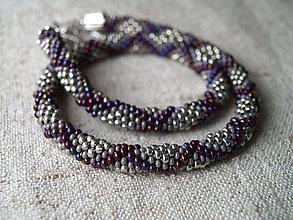 Náhrdelníky - fialovo-sivý - 5513774_