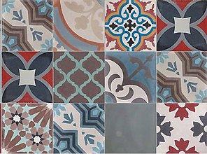 Dekorácie - Dlažba,obklad PATCHWORK 102 - 20 x 20 x 1,6 cm - 1 ks - 5513734_