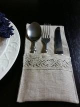 Úžitkový textil - Puzdro na príbor Pure Beauty - 5513846_