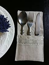 Úžitkový textil - Puzdro na príbor Pure Beauty - 5513847_