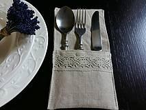 Úžitkový textil - Puzdro na príbor Pure Beauty - 5513848_